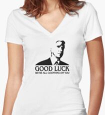 Good Luck Women's Fitted V-Neck T-Shirt