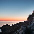 Moon & Lighthouse – Acadia National Park, Maine by Jason Heritage