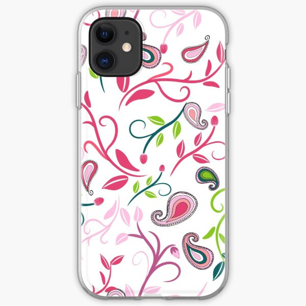Paisley scroll pattern digital art iPhone Soft Case