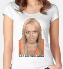 LiLo Bad Bitch  Women's Fitted Scoop T-Shirt