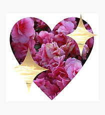 sparkly heart emoji Photographic Print