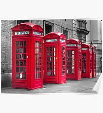 Telephone booths Poster