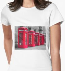 Telephone booths Women's Fitted T-Shirt
