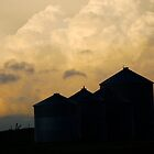 Clouds and Silhouette by Roxanne Persson