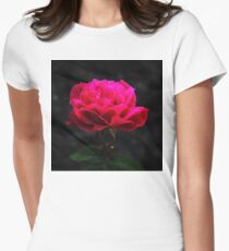 My Love is Like a Rose Womens Fitted T-Shirt