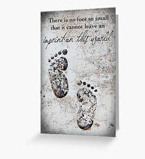 Tiny greeting cards redbubble tiny footprints greeting card m4hsunfo