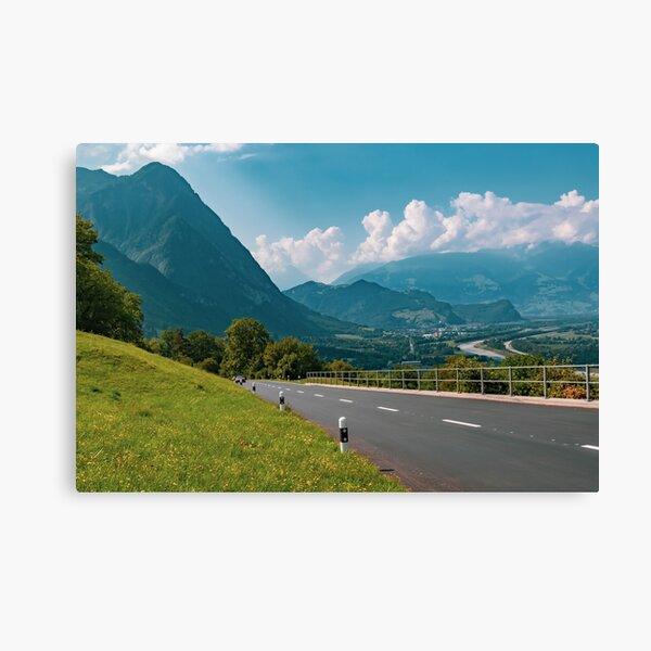 Mountains in Liechtenstein Canvas Print