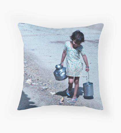 a woman's work Throw Pillow