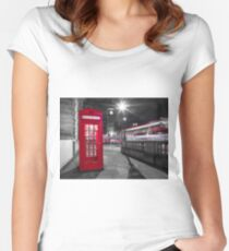 Telephone Booth with Big Ben Women's Fitted Scoop T-Shirt