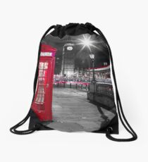 Telephone Booth with Big Ben Drawstring Bag