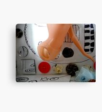 White Box With Beads and Torso Canvas Print