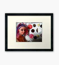 White Box Purple Hair Framed Print