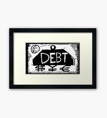 Debt Weight Framed Print