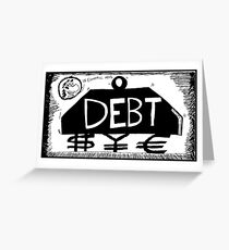 Debt Weight Greeting Card