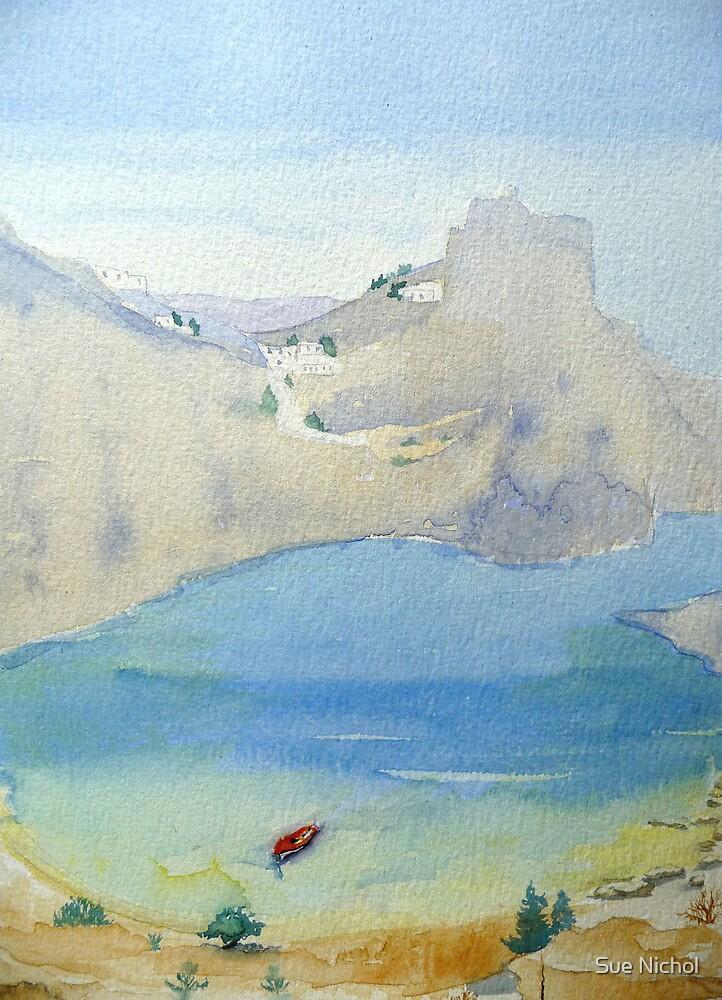 St Paul's Bay, Lindos, Rhodes by Sue Nichol