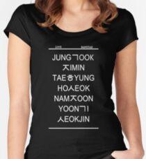 love bangtan /black Women's Fitted Scoop T-Shirt