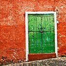 Red wall :: Green door by Silvia Ganora