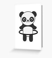Hoop Panda Greeting Card