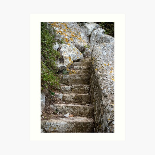 Footpath on the Rock of Gibraltar Art Print