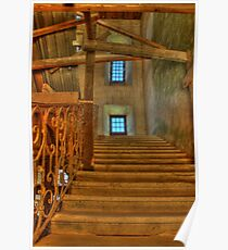 Staircase at Chateau de Biron Poster