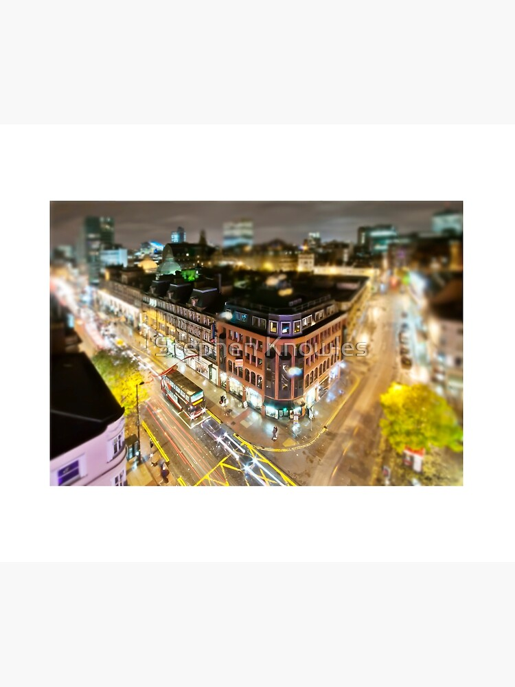 Bright lights of Manchester, tilt and shift. by stephenknowles