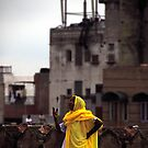 woman in yellow by andreaminerdo