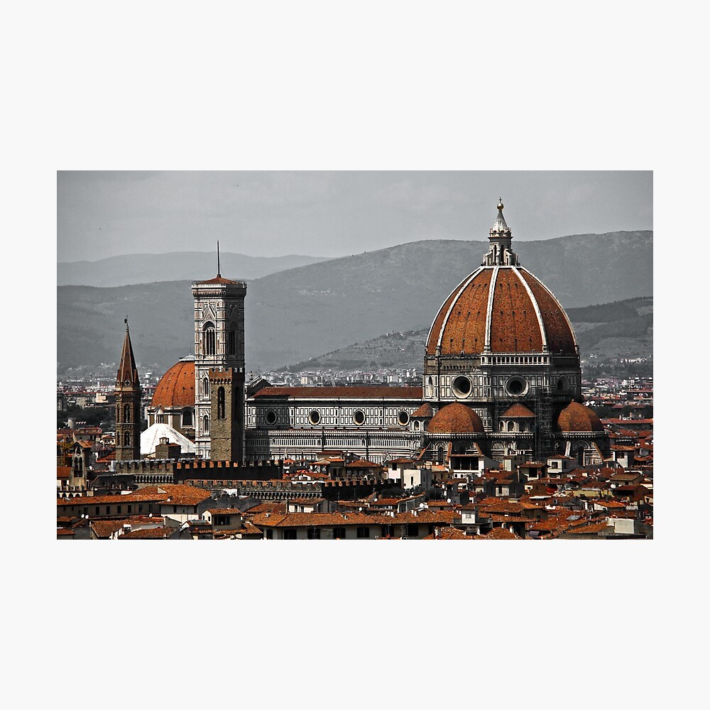 The Red Roofs of Florence Fotodruck