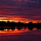 Red in the Morning - Roxby Sunrise by Daniel Mitchell