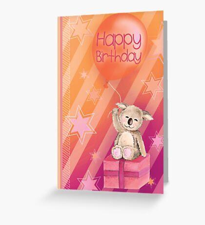Keddy Koala presents Birthday Card Greeting Card