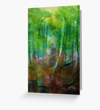 Forest of Trees,, watercolor Greeting Card