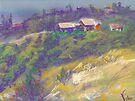 Neighbors (pastel) by Niki Hilsabeck