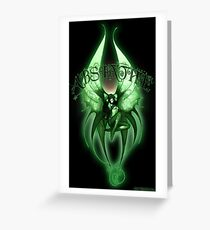 Absinthe Fairy 001 by Jesse Lindsay  Greeting Card