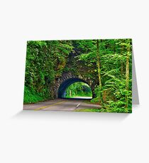 Tunnel to Cades Cove Greeting Card