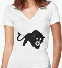 The Beast and the bird Women's Fitted V-Neck T-Shirt