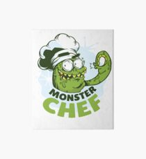 Monster Chef Art Board Print