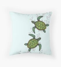 Baby Turtles Throw Pillow