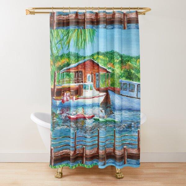 Shem Creek Painting Shower Curtain
