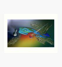 The bait and the last tuna Art Print