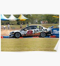 James Moffat Jim Beam Racing Poster