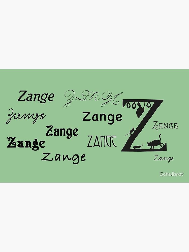 Vintage paper cut alphabet, Z like pliers by Schulbrot
