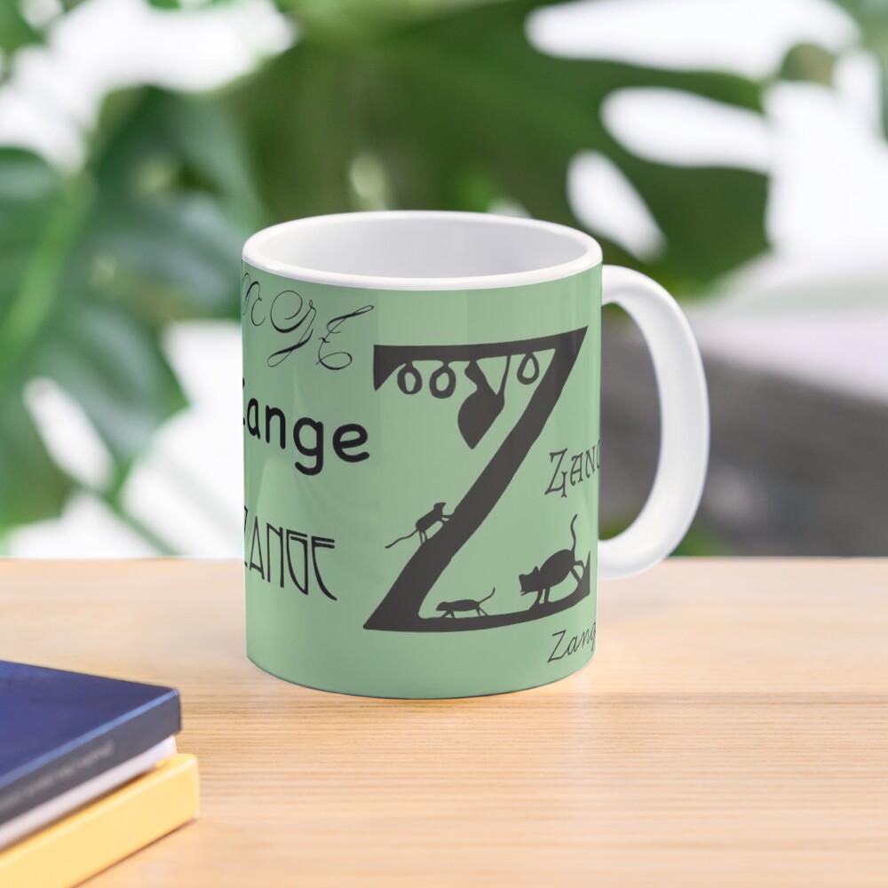Vintage paper cut alphabet, Z like pliers Mug