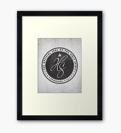 Word: Ephesians Framed Print