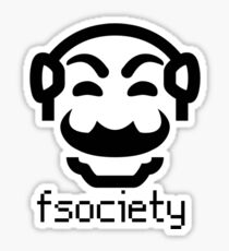 Mr. Robot Fsociety Monopoly Man Sticker