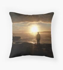 Silhouette at Sherbrook River Throw Pillow