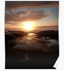 Sunset at Sherbrook River Poster