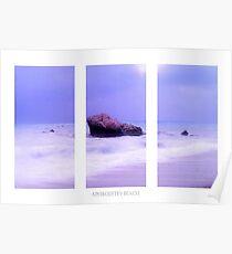 Blue Horizon Triptych Poster