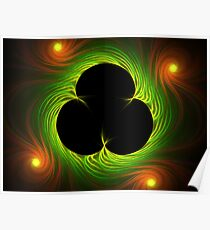 Van Gogh's Shamrock from Spider Mum Flame Poster