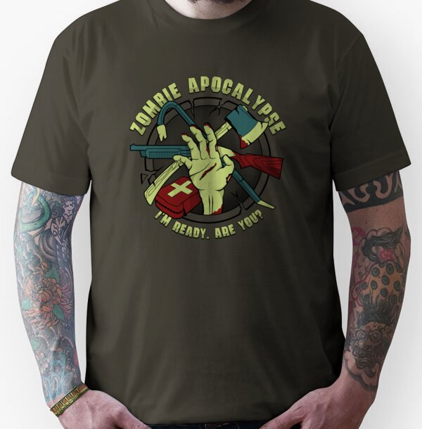 ee8b7f5d Zombie Apocalypse – I'm ready. Are you? Unisex T-Shirt