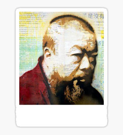 Tribute to Ai Weiwei: 21st Century Revolutionary (Black) Sticker