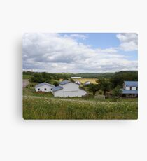 An Amish Community Canvas Print